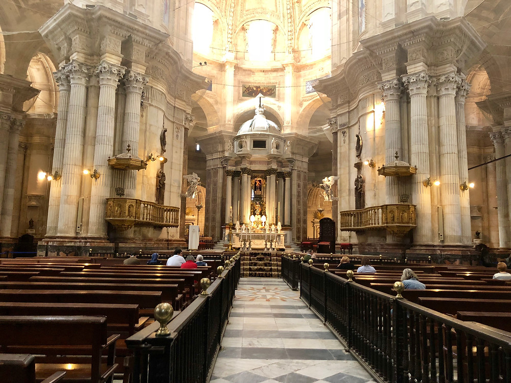 Interior de la Catedral de Cádiz