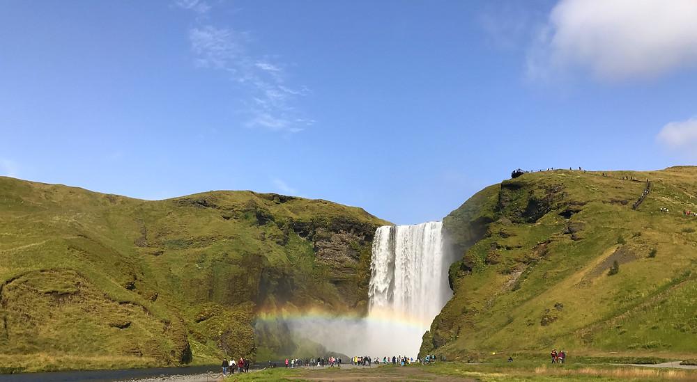 Panorámica de la cascada Skogafoss
