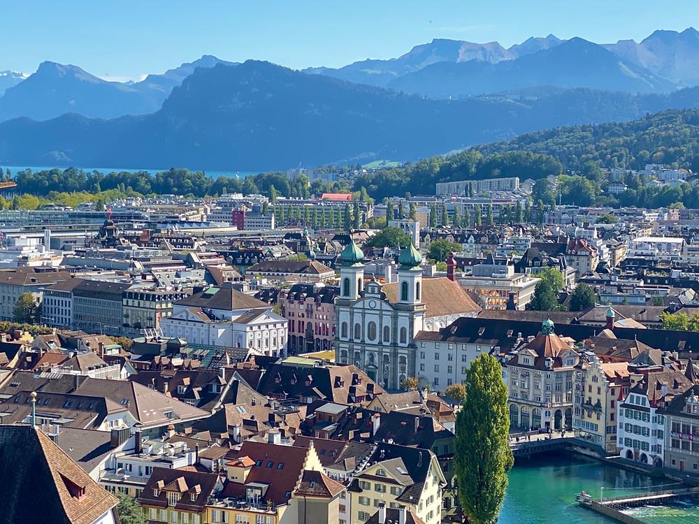 Vistas desde torres Lucerna