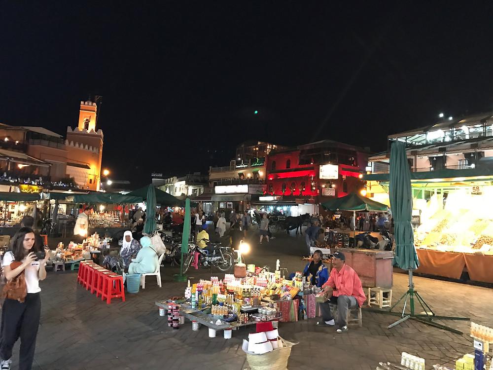 Imagen de Jemaa El Fna por la noche