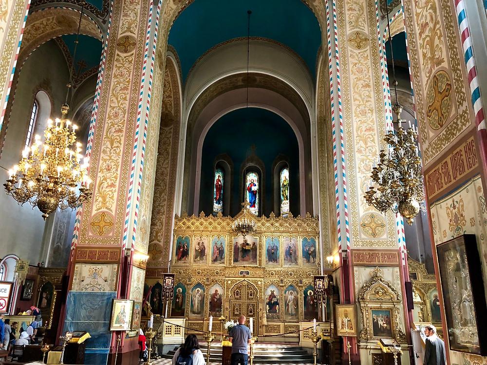 Interior Catedral Alejandro Nevski