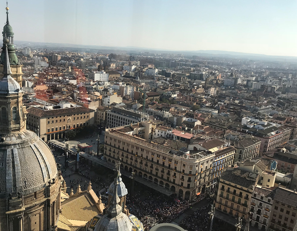 Vista panorámica de Zaragoza desde la torre del Pilar