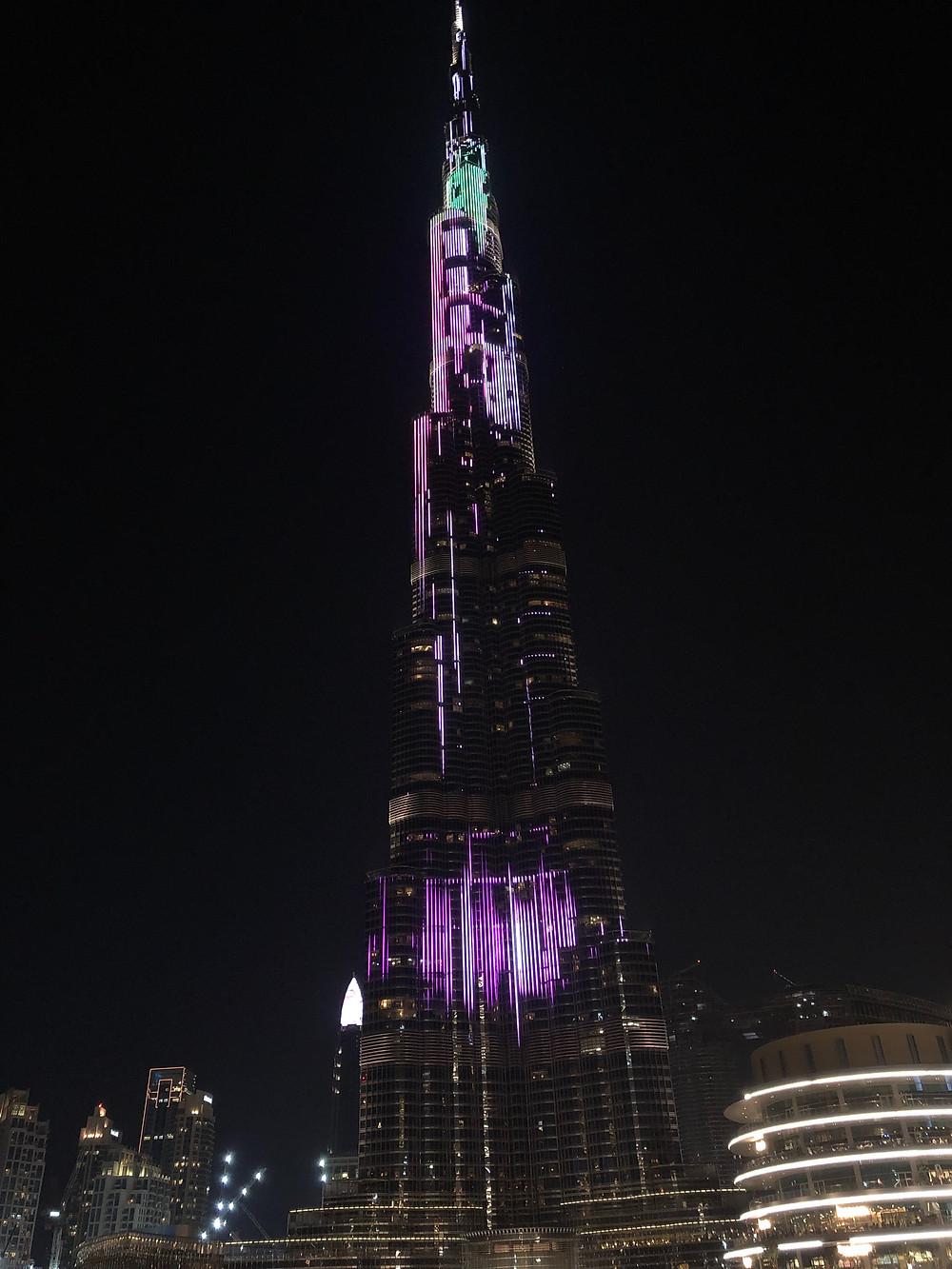 Espectáculo de luz sobre el Burj Khalifa