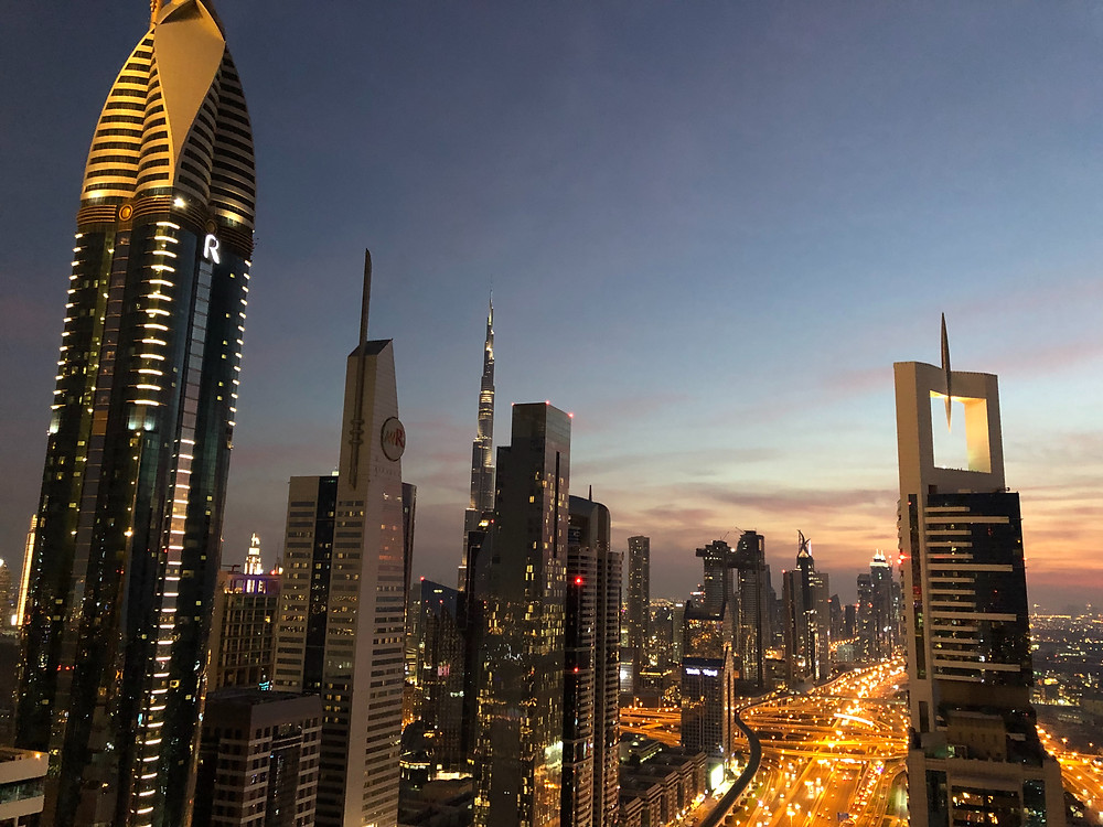 Espectacular vista desde la terraza del hotel Sheraton