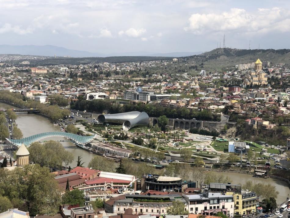 Vista panoramica de Tbilisi Georgia