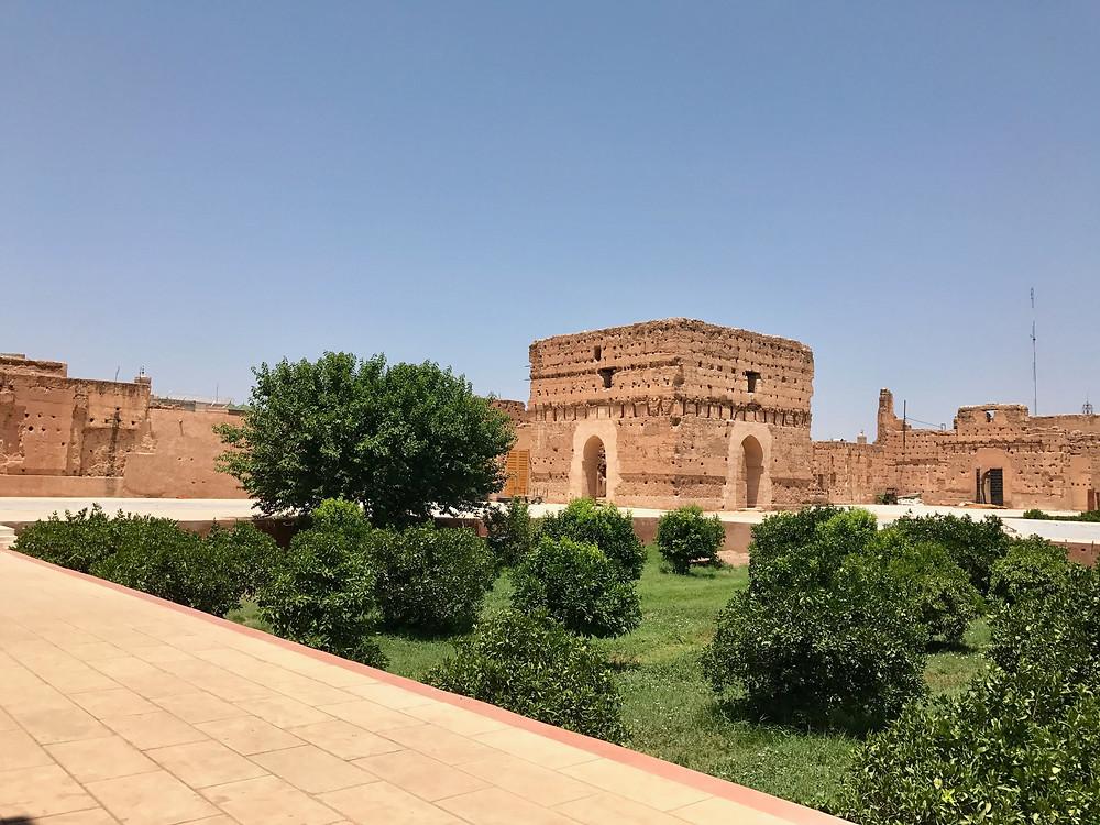 Palacio el Badi en Marrakech, Marruecos