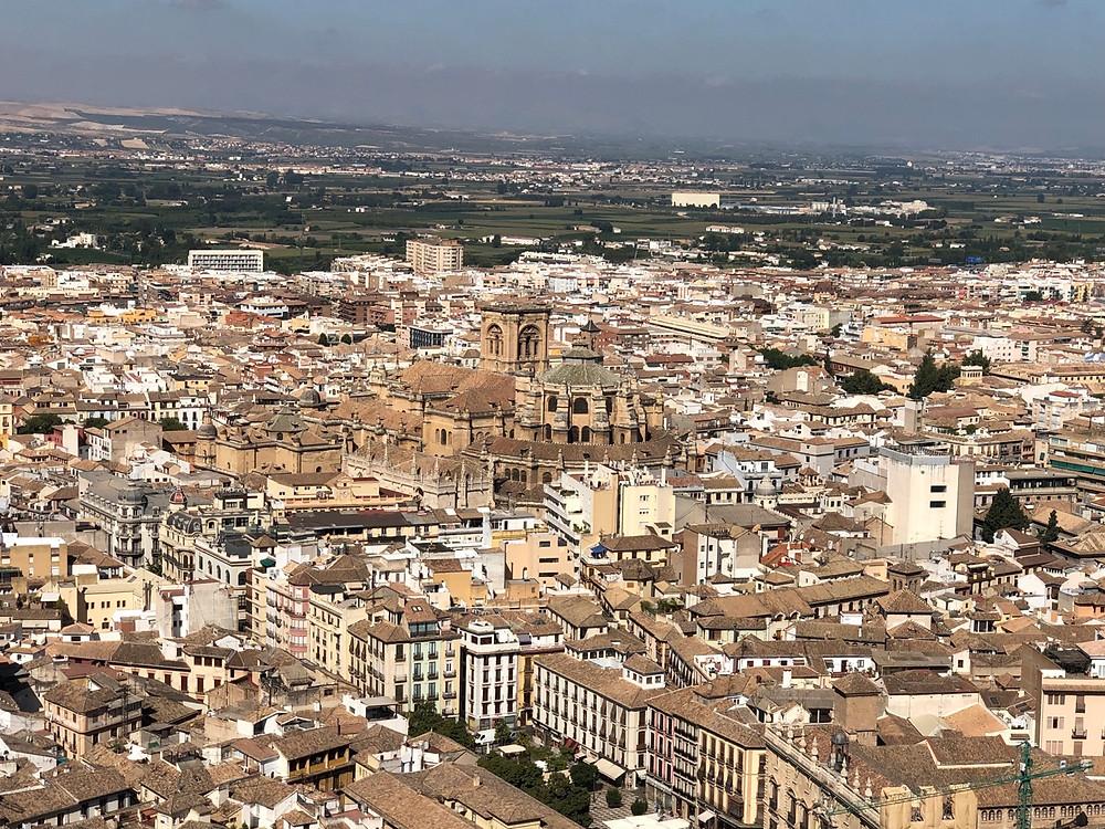 Vistas panorámicas Catedral Granada