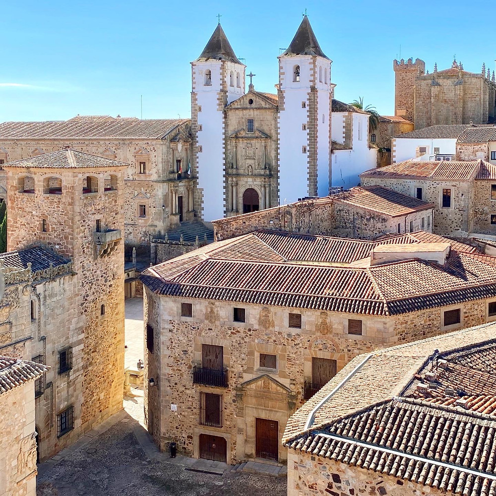 Vista panorámica desde la torre de la concatedral de Cáceres