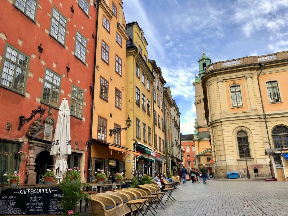 Terrazas en el centro de Estocolmo