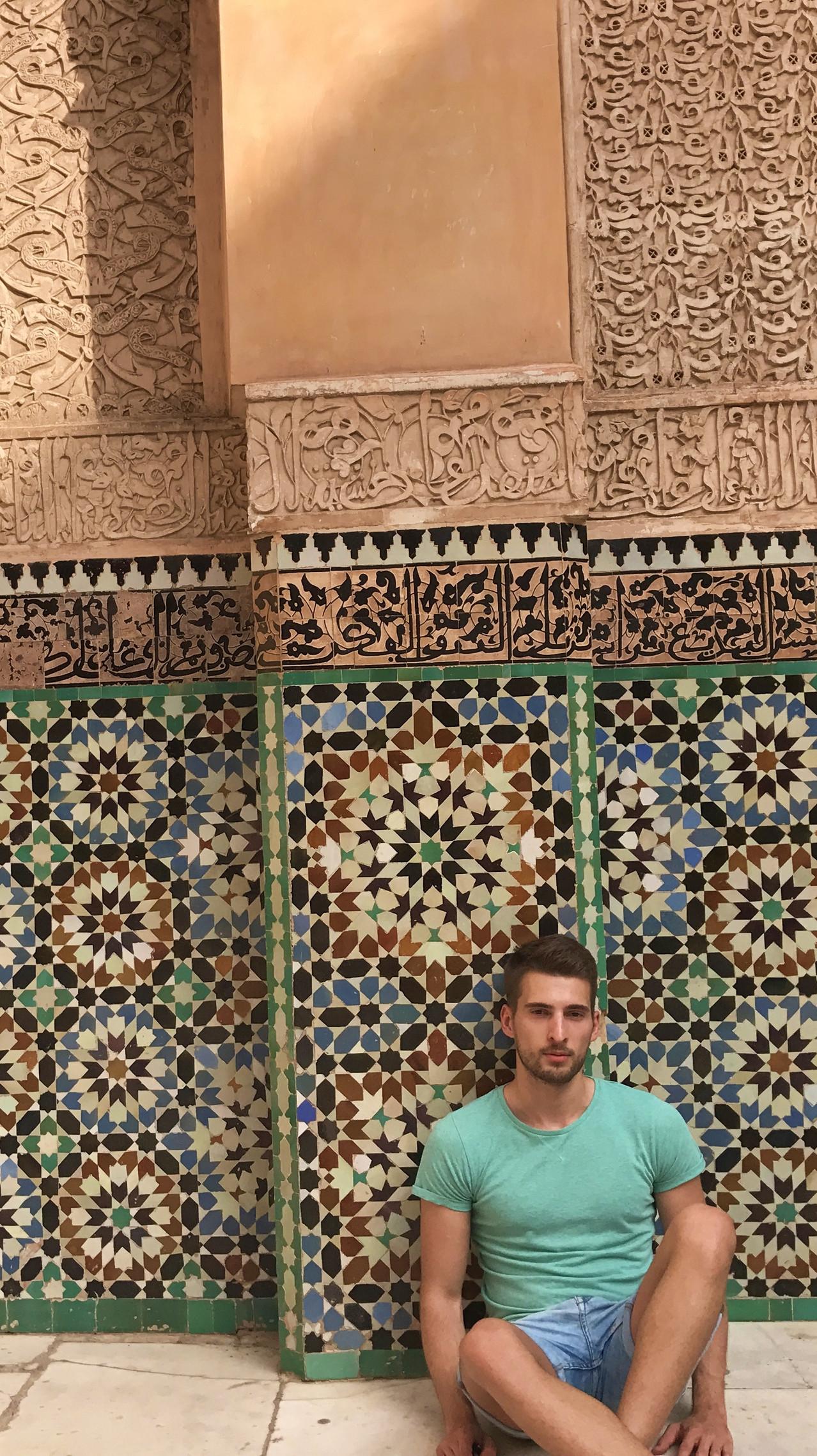 Foto en los azulejos de la madraza para Instagram