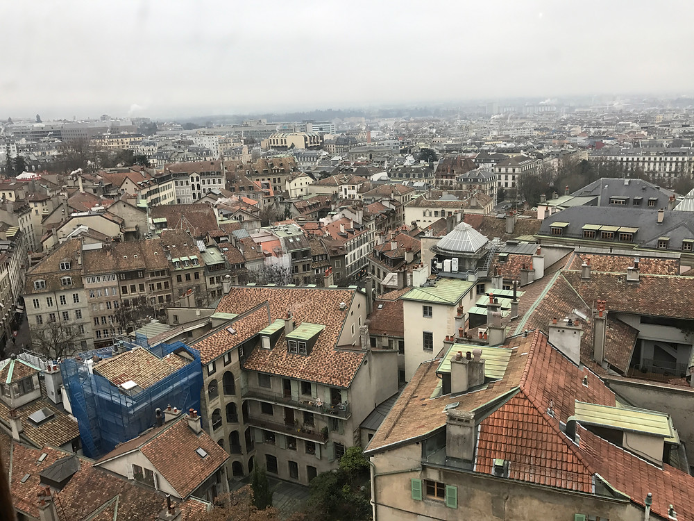 Vista panorámica Catedral Ginebra