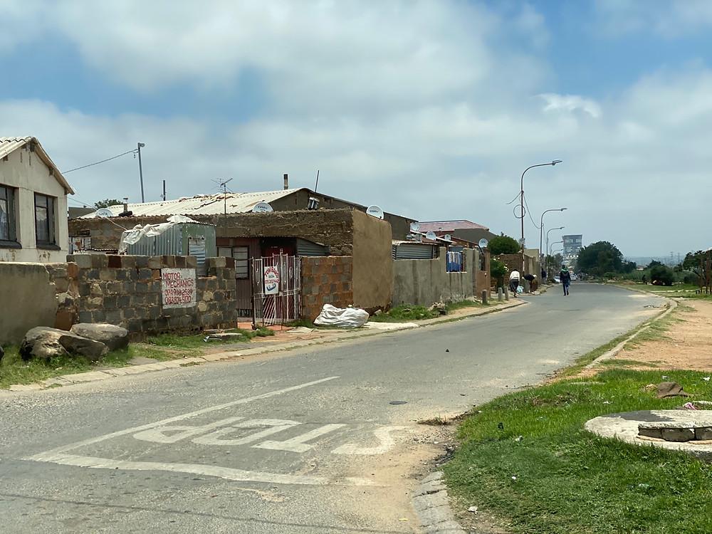 Barrio marginal en Johannesburgo