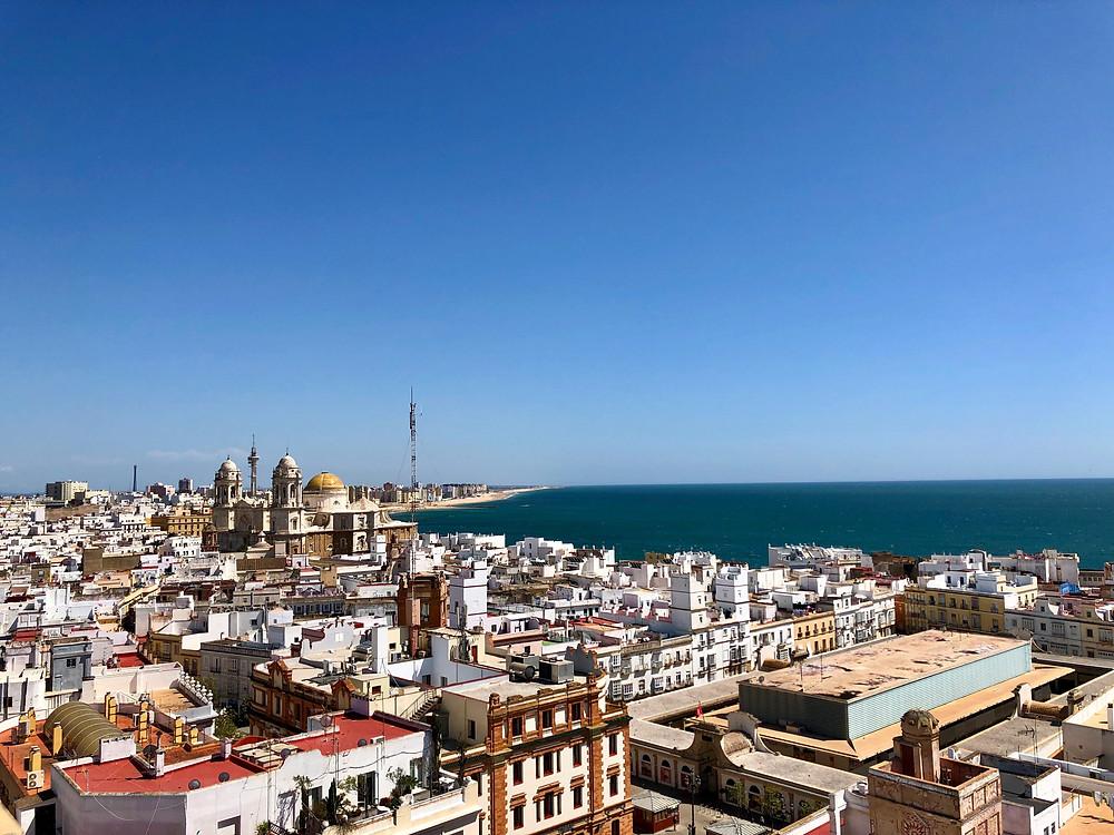 Catedral de Cádiz desde la Torre Tavira
