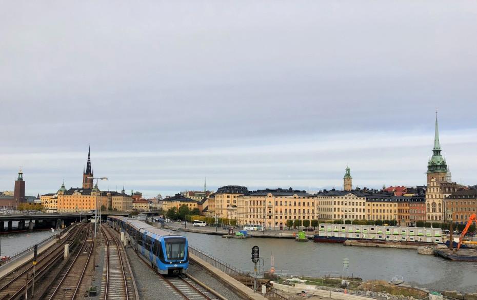 Vista panorámica del centro de Estocolmo desde el Mirador de Katarina