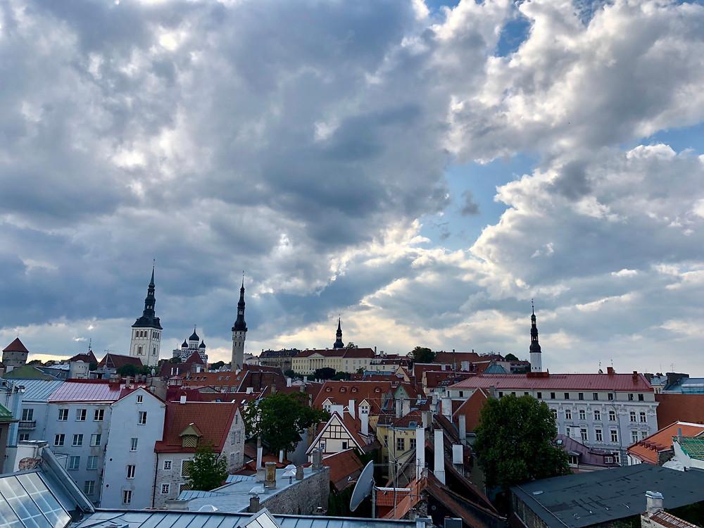 Centro histórico de Tallin desde las murallas