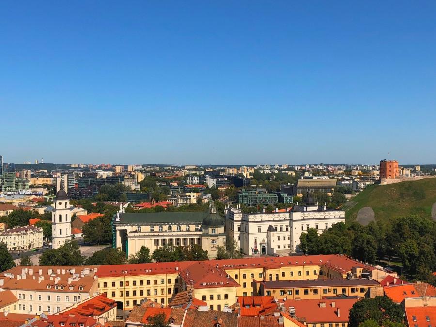 Catedral de Vilna vista desde la Universidad