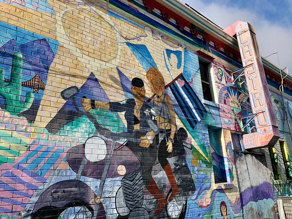 Arte urbano en el barrio de Castro de San Francisco