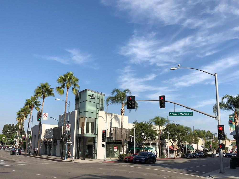 Barrio de Beverly Hills en Los Ángeles