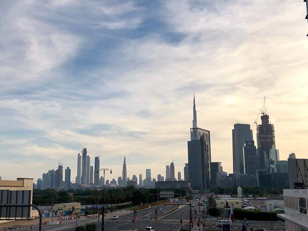 Vista del skyline de Dubai