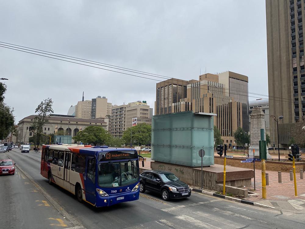 Autobús en el centro de Johannesburgo
