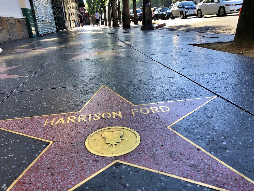 Estrella de Harrison Ford en el paseo de la fama de Los Ángeles