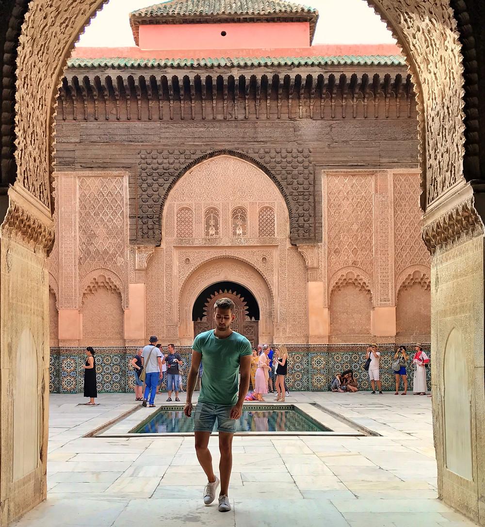 Foto en la madraza de Ben Yousseff en Marrakech