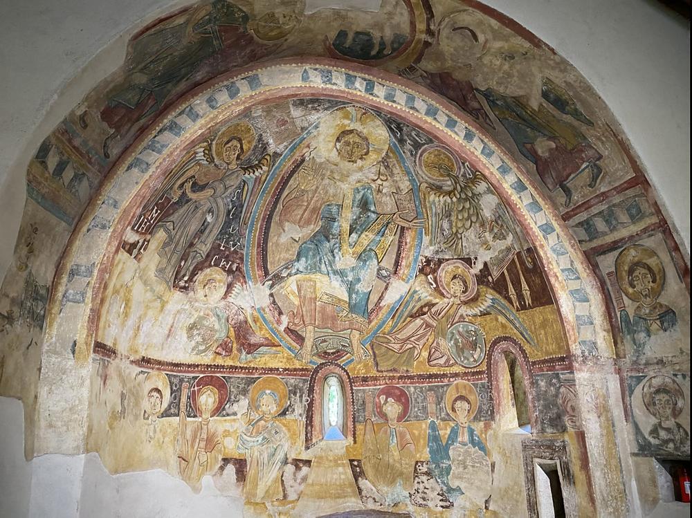 Friso decorativo iglesia Engolasters Andorra