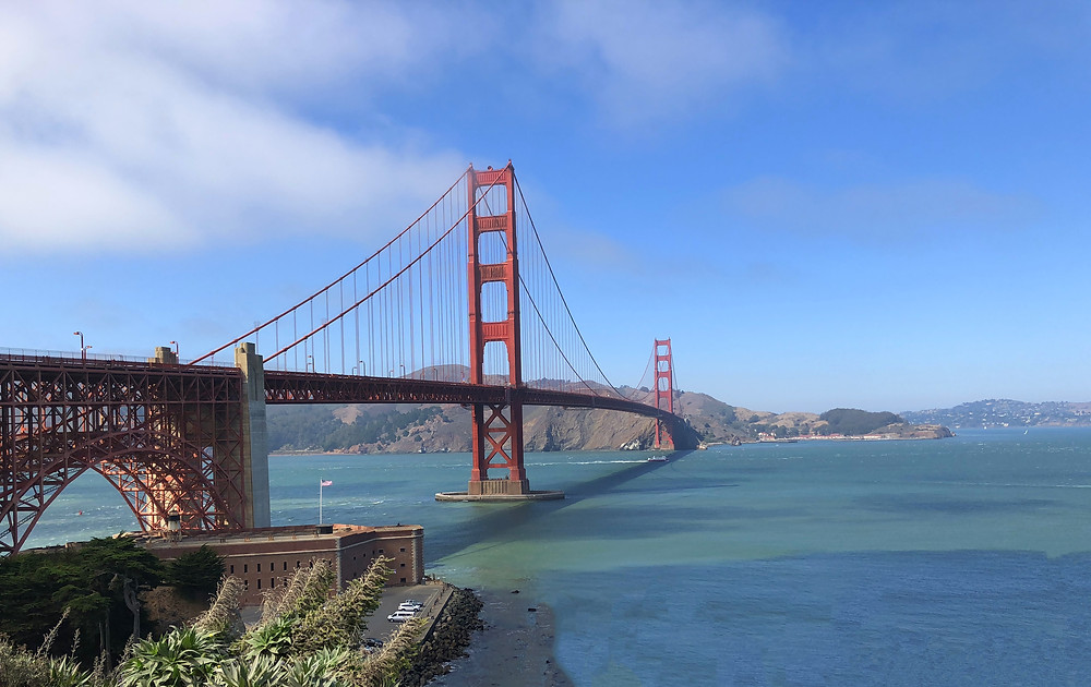 Vista panorámica del Golden Gate desde Fort Point