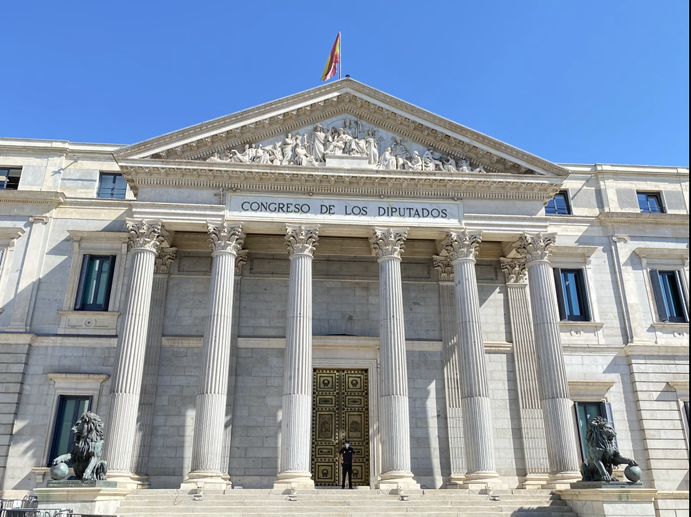 Fachada del edifico del Congreso de los Diputados