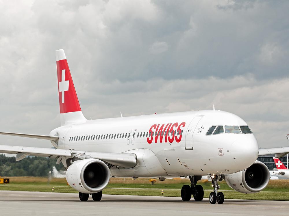 Avion de la compañia suiza Swiss Airlines