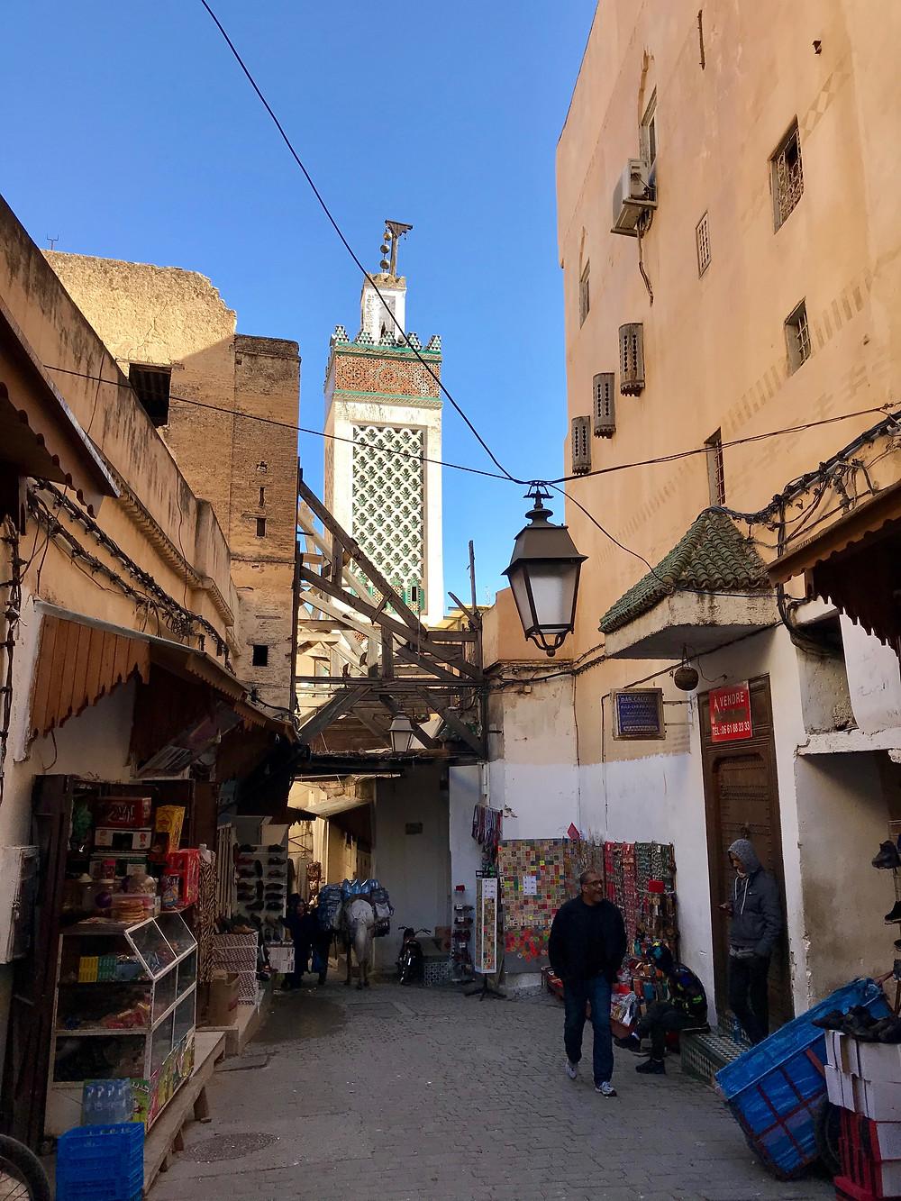 Zocos en la ciudad de Fez, en Marruecos