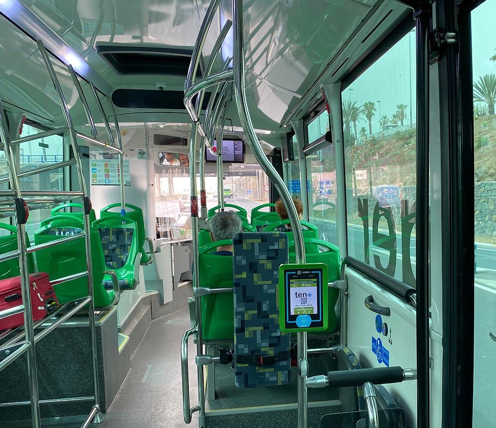Moverse en transporte público en la isla de Tenerife