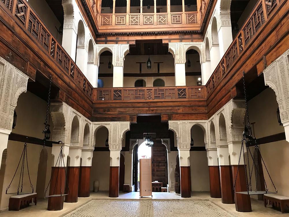 Entrada principal del Museo Nejjarine en Fez