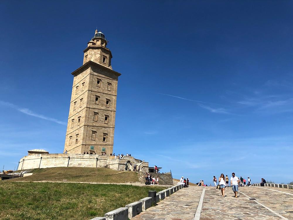 Paseo subida Torre de Hércules