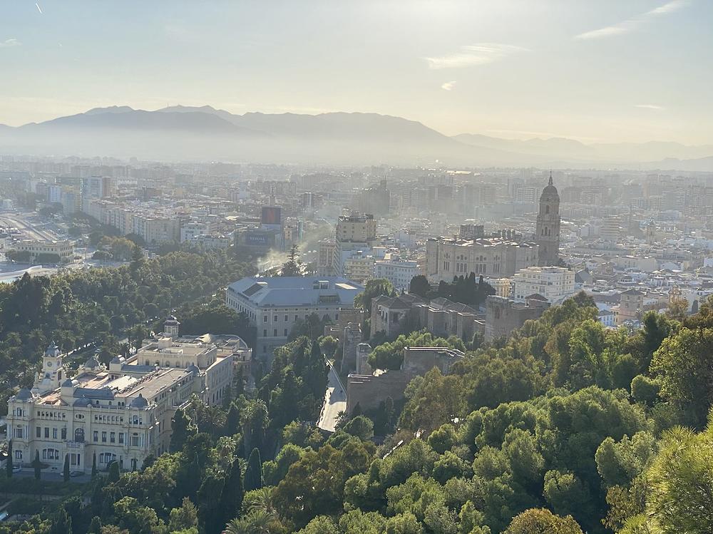 Vista panoramica de Malaga desde Gibralfaro
