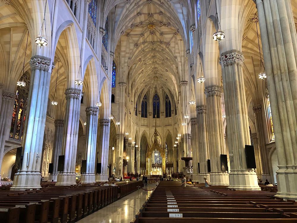 Interior Catedral de Nueva York