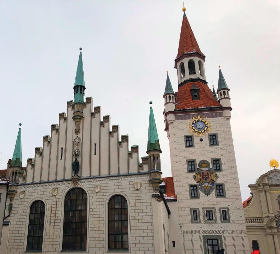 Fachada del antiguo edificio del Ayuntamiento de Munich