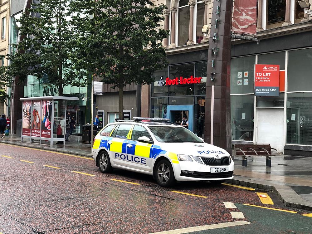 Coche policia Belfast