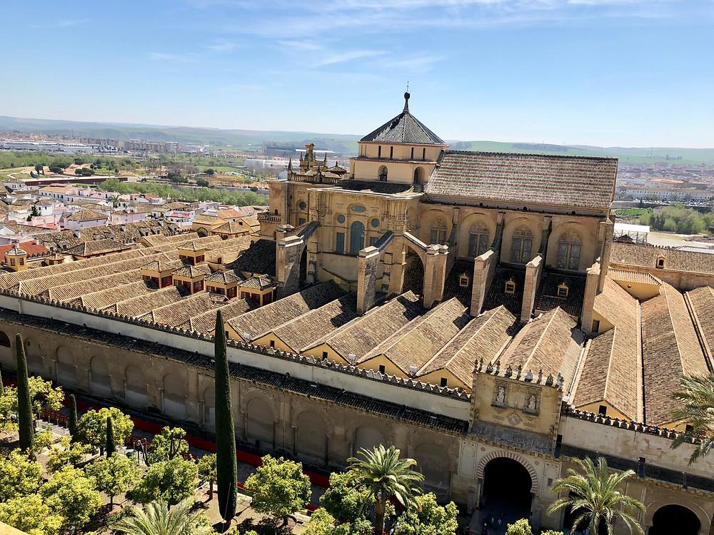 Mezquita Catedral de Córdoba vista desde la torre Campanario