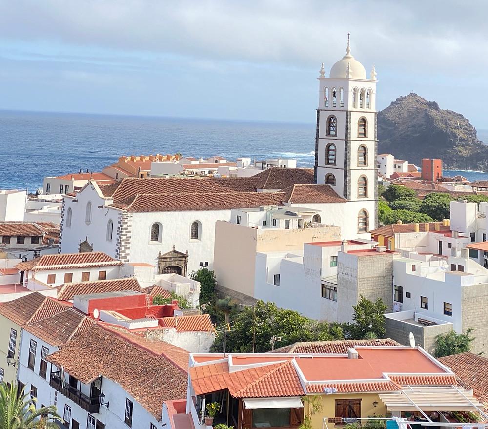 Vista panorámica del pueblo de Garachico en Tenerife
