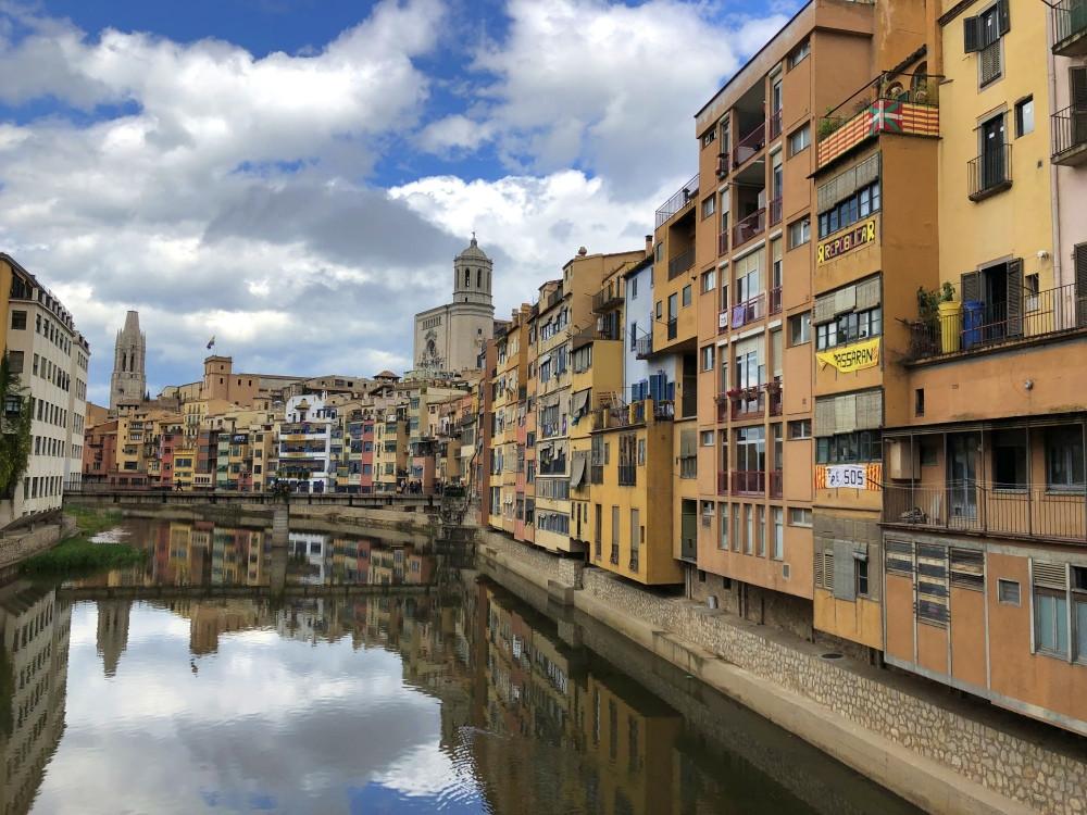 Catedral de Girona y casas Onyar