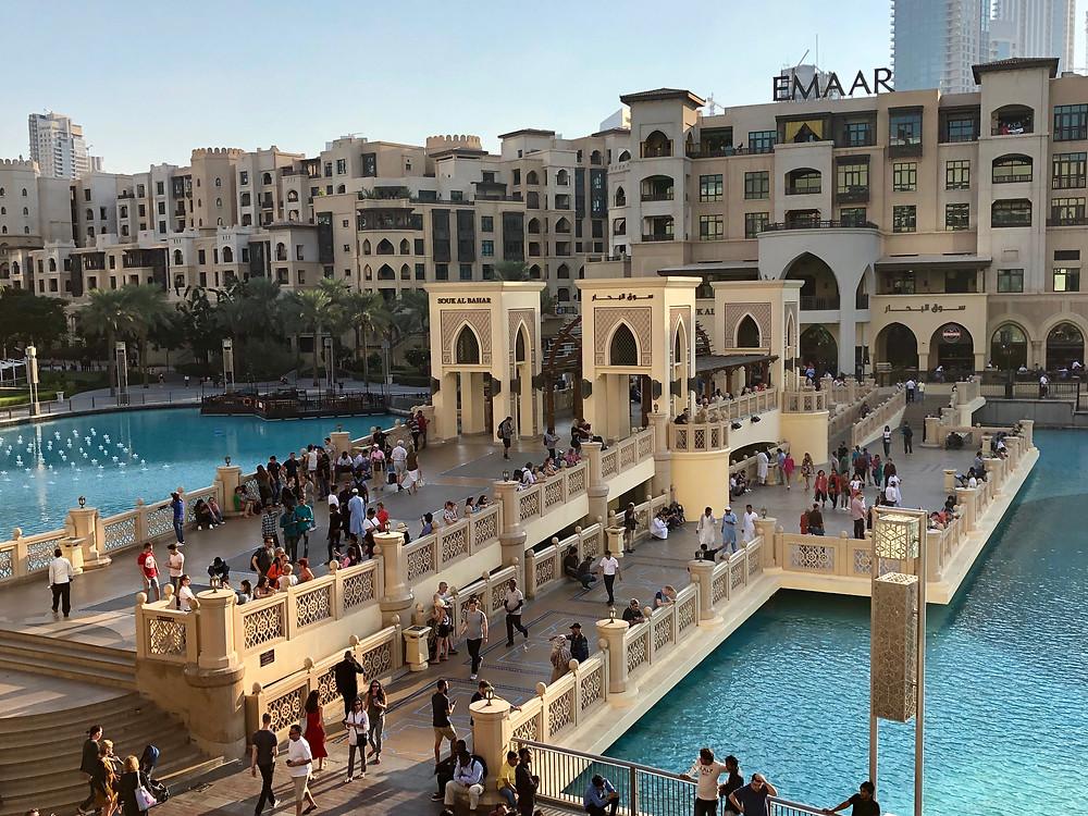 Vistas desde la Apple Store del Dubai Mall