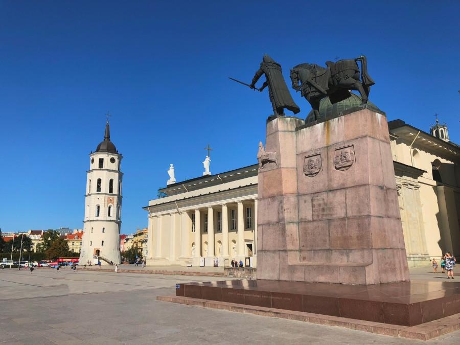 Plaza de la Catedral en Vilna