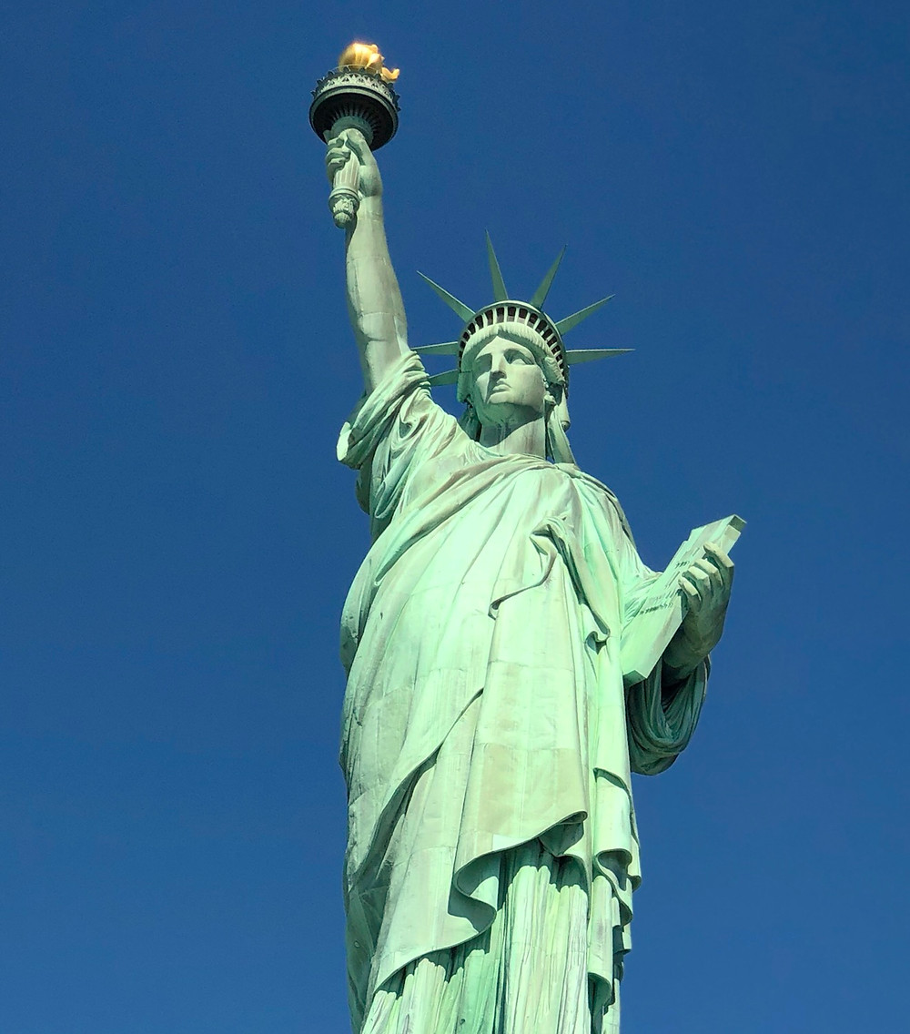 Corona y antorcha Estatua Libertad