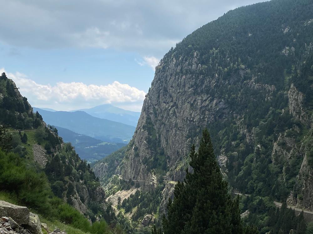 Vista del valle de Nuria