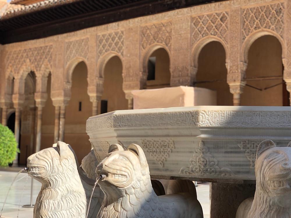 Leones Alhambra de Granada
