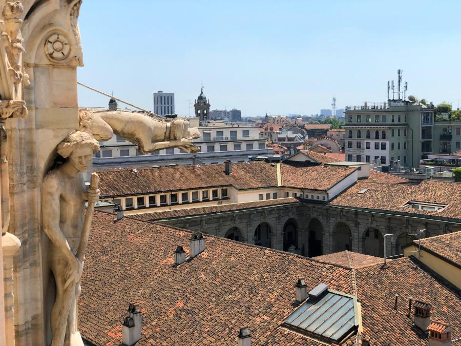 Vista panorámica del skyline de Milan