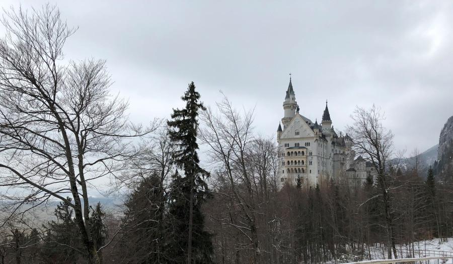 Paisaje invernal en Baviera