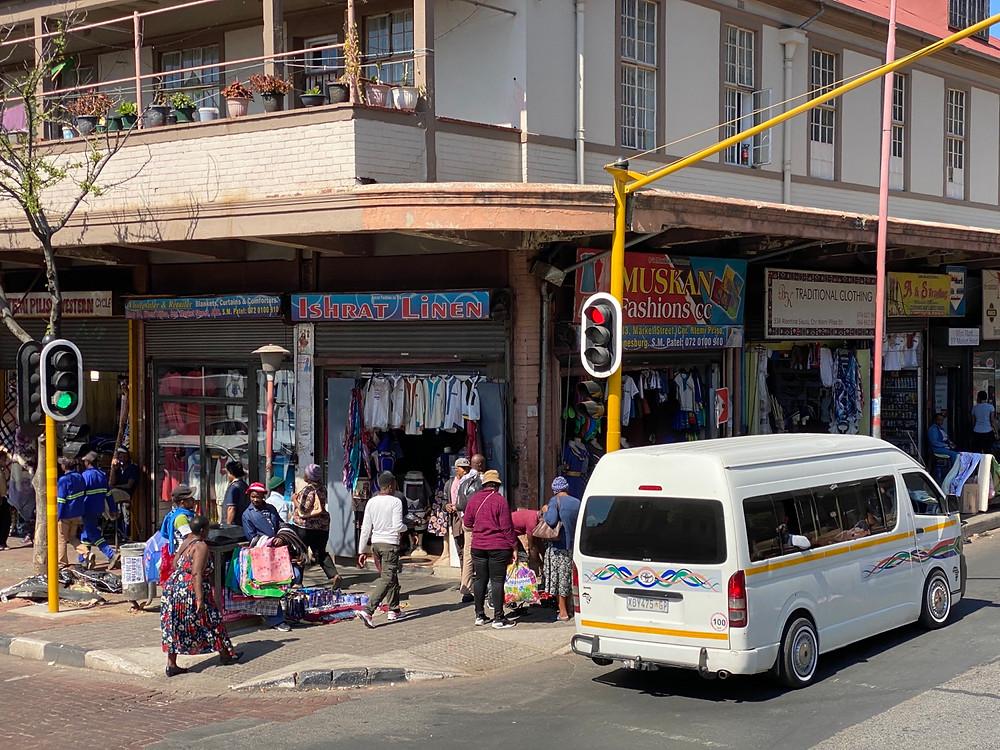 Mercados callejeros en el centro de Johannesburgo