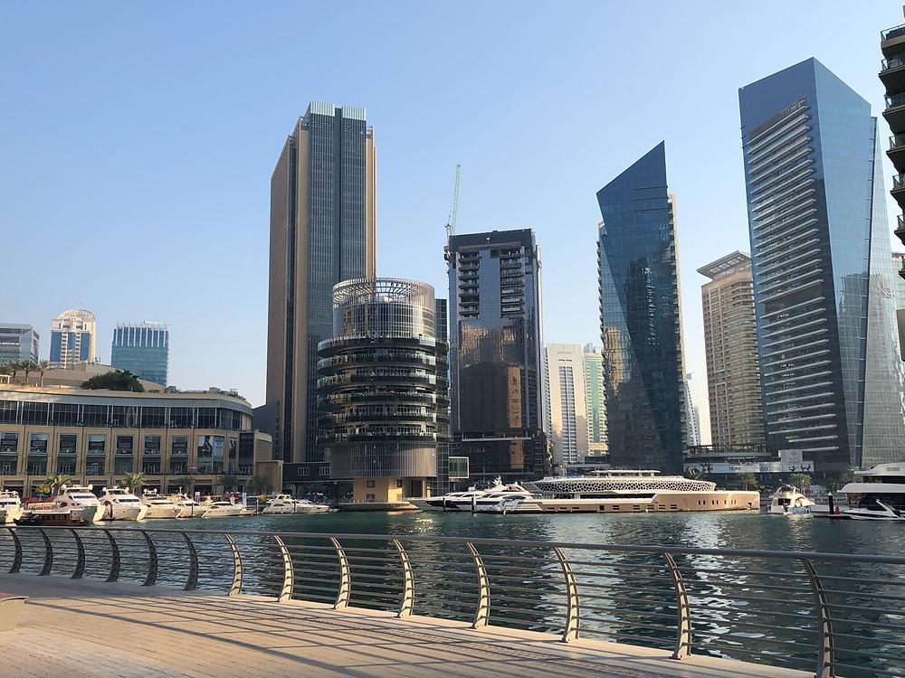 Rascacielos en Dubai Marina